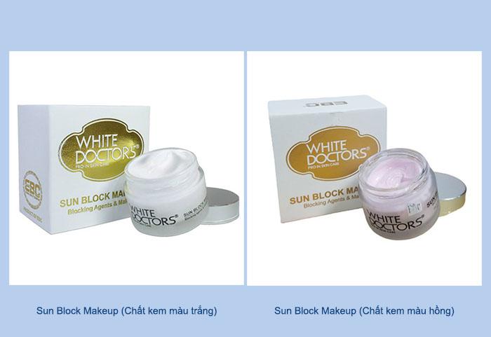 Bạn có thể tùy chọn chất kem Sun Block Makeup phù hợp với làn da.