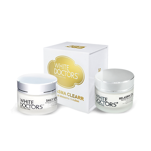Bộ đôi hỗ trợ giảm nám da của White Doctors - Daily UV Care & Melasma Clearr
