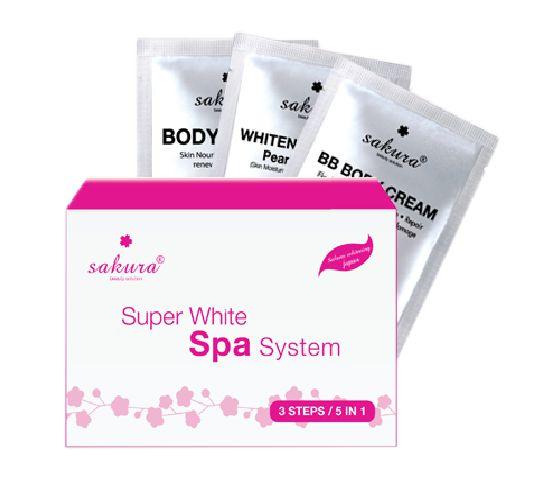 Kem tắm trắng Sakura Super White Spa System giá bao nhiêu?